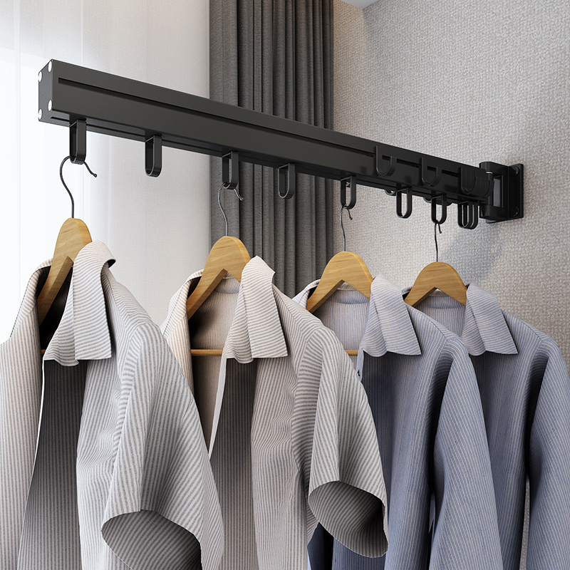 Hanging hanger bedroom wall hanging clothes on the wall to collect room Japanese simple shelf hanging wall corner home coats
