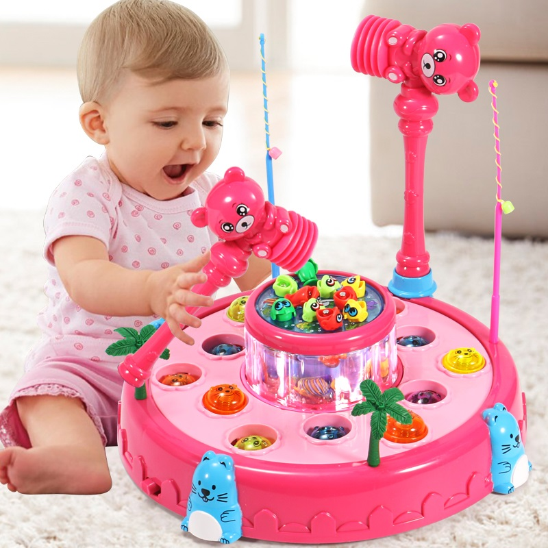 Children Hit Hamster Fishing Toys Kids Hit Early Education 2-3-4 Years Old Babies Two or Three Weeks Girls and Boys to Improve Intelligence