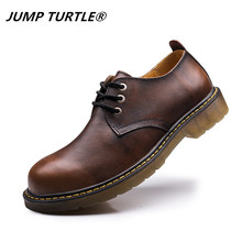 Genine leather shoes men brand football thick male
