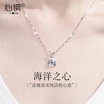 999 sterling silver necklace female light luxury niche design pendant 2021 new jewelry Tanabata Valentines Day gift