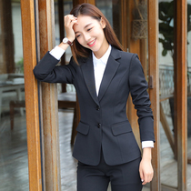 Suit suits womens work clothes professional clothes college students fashion temperament workplace interview spring and autumn suit tooling