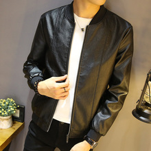 New Leather Garment Men's Leisure Coat Korean Edition Fashion, Handsome, Spring, Autumn and Winter Jackets and Autumn Garments
