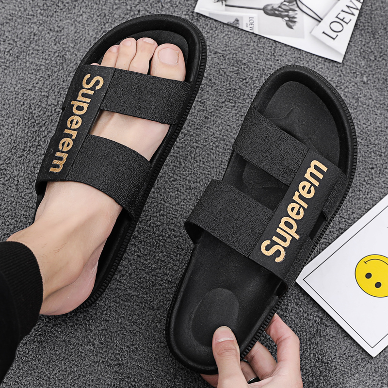 Slippers men's summer trend outdoor men's beach flip flops fashion personality sandals Korean casual sandals