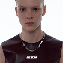 KVK splicing necklace female collarbone chain 2021 new fashion light luxury collar niche design sense ins net red jewelry
