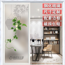 Art glass partition living room entrance porch background