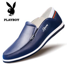 Playboy Men's Shoes Summer Leather Men's Leisure Leather Shoes
