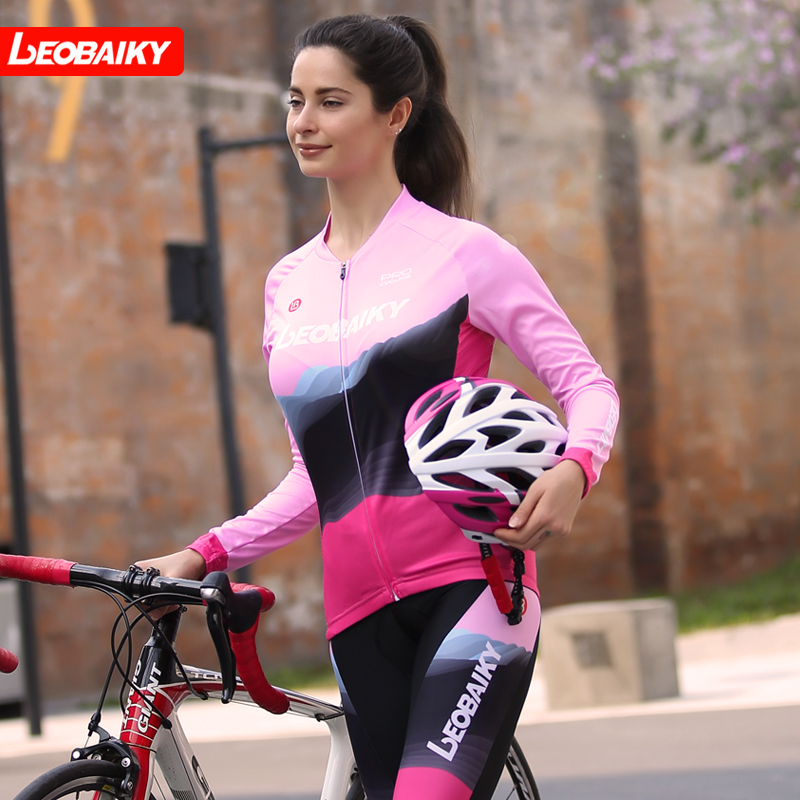 LB2019 Spring, Summer and Autumn New Cycling Apparel Long-sleeved Bicycle Apparel Long-sleeved Women Mountain Bike Road Bicycle Apparel