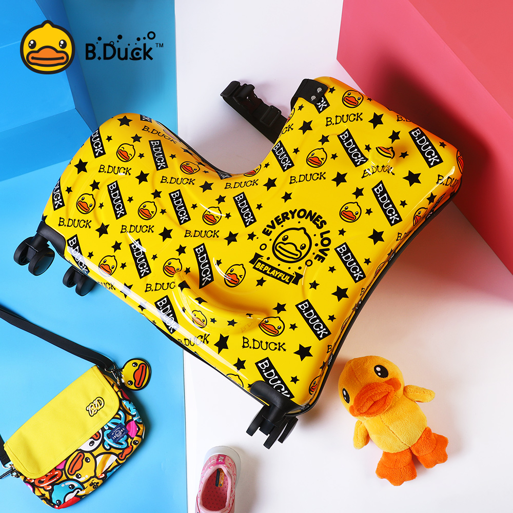 [The goods stop production and no stock]Little Yellow Duck Children's Luggage Can Ride Babies Can Ride Babies Travel Pole Box Girls Take Dolls