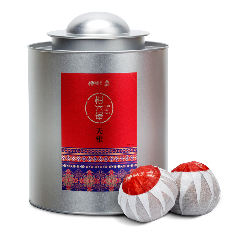 Hexuan No. Xinhui Chenpi Black Tea Guangxi Luzhou Liubao Tea Cooked Tea Citrus Liubao Tea Canned 250g