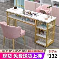 Nordic ins net red wind nail table and chair set Light luxury Japanese single double nail table table special price Economy type