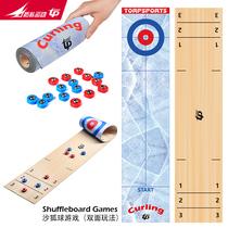 Top sport nouveau rouleau conception 2-en-1 mini jeu de palets curling glace glisser Pierre casual jeu