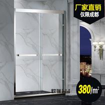 Custom shower room bathroom partition stainless steel glass sliding door simple shower room toilet shower door