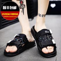 Слово тапочки мужской тренд корейская версия пляж сандалии мужской личности открытый 2020 новый прохладный перетащить мужские тапочки лето