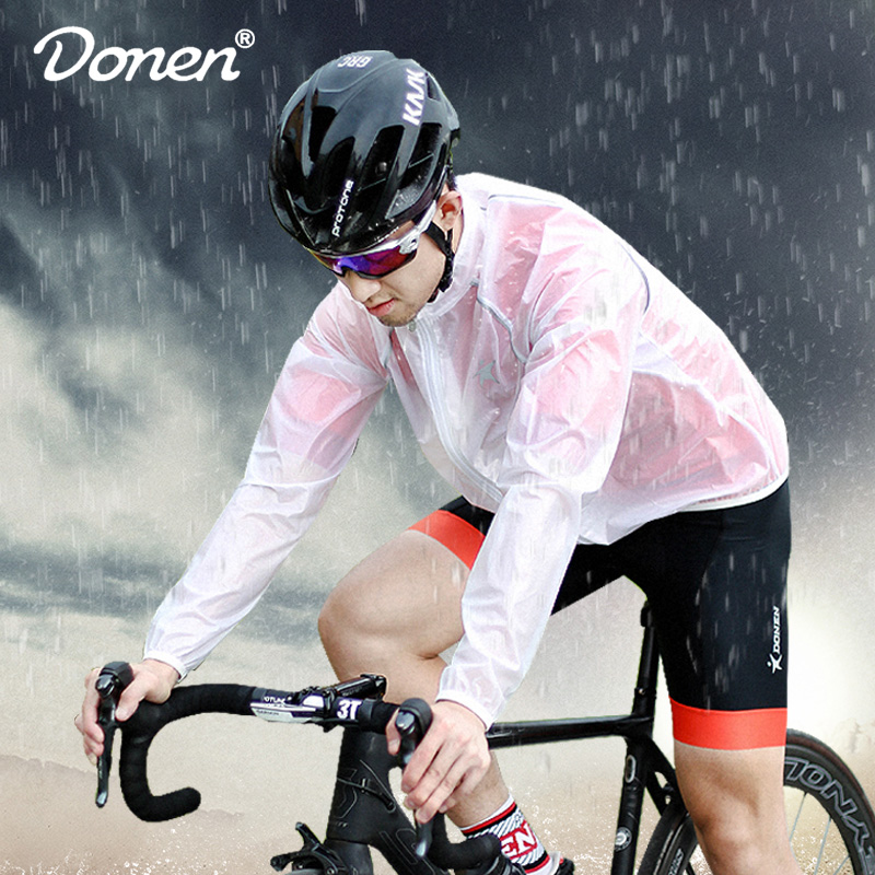 Dunn DONEN Bike Clothes Transparent Rainwear Bicycle Mountain Bike Men and Women Riding Rainwear Adult Riding Rainwear