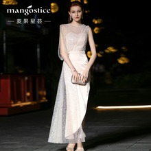2009 Fashion Host Brilliant Temperament Segments Evening Dress Female Fitness Bag Button Long Air Queen's Dress