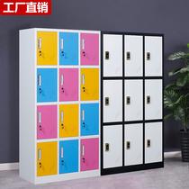 Color staff cabinet Locker Gym bag locker Bathroom locker Iron cabinet with induction lock locker