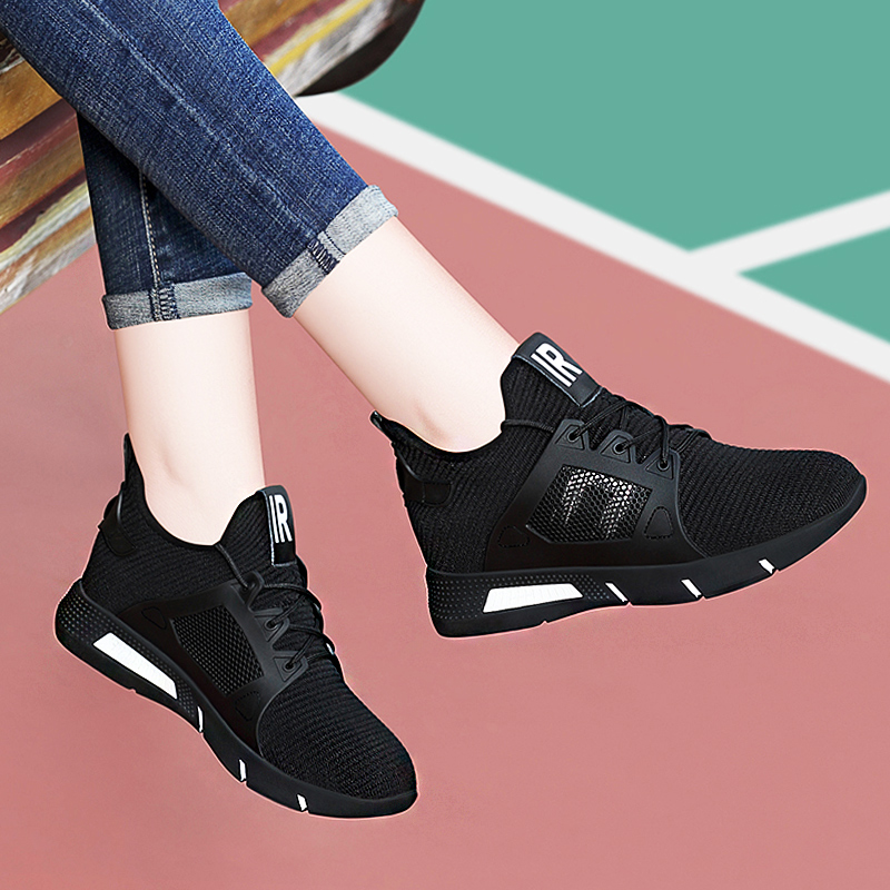 Raise Sports Shoes Female Autumn and Winter Thick-soled Leisure Shoes in Autumn