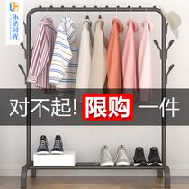 Simple manteau rack Séchage rack étage intérieur pliage rack Accueil Chambre Vêtements rack De Stockage cabinet