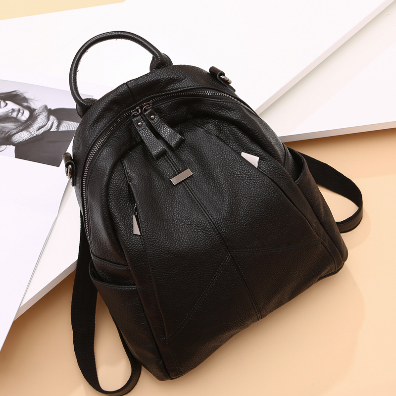 Leather shoulder bag female 2018 new tide head layer cowhide Korean version of the wild trend shoulder bag soft leather bag female