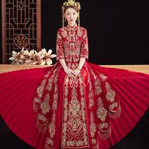 Сю Хе свадебное платье 2020 новый свадебный тост из китайского свадебного платья свадебное платье вышитое Хе платье весна