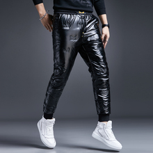 Winter thickened warmth outdoor shiny little monster white duck down down pants men's tide brand waterproof outer wear foot pants
