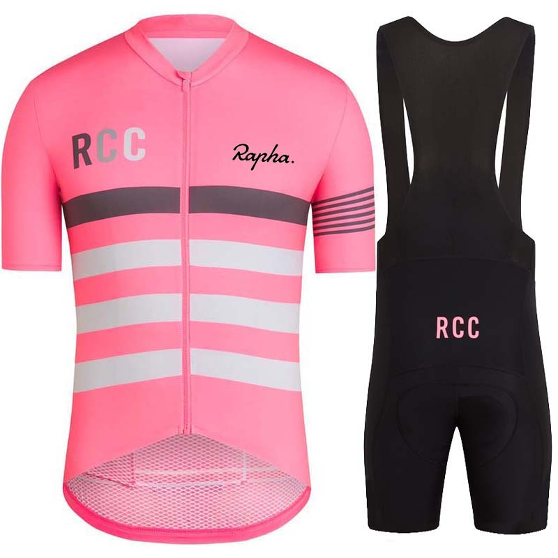 RAPHA is RCC team's high quality cycling suit. Short sleeve suspender shorts for men's mountain bike riding