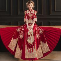 Xiuhe clothing bride 2021 new wedding dress Chinese wedding dress Fengguan Xiuhe female show kimono thin