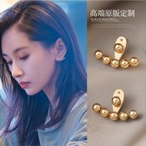 Wang Zi Wen with earstud female minority design sense advanced light luxury earrings summer style 2021 new fashion earrings