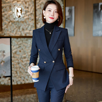 Professional suit women autumn and winter temperament tooling suit spring and autumn senior sense professional wear high-end suit overalls