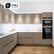 Chengdu modern simple open kitchen cabinet assembly kitchen cabinet custom kitchen cabinet decoration household