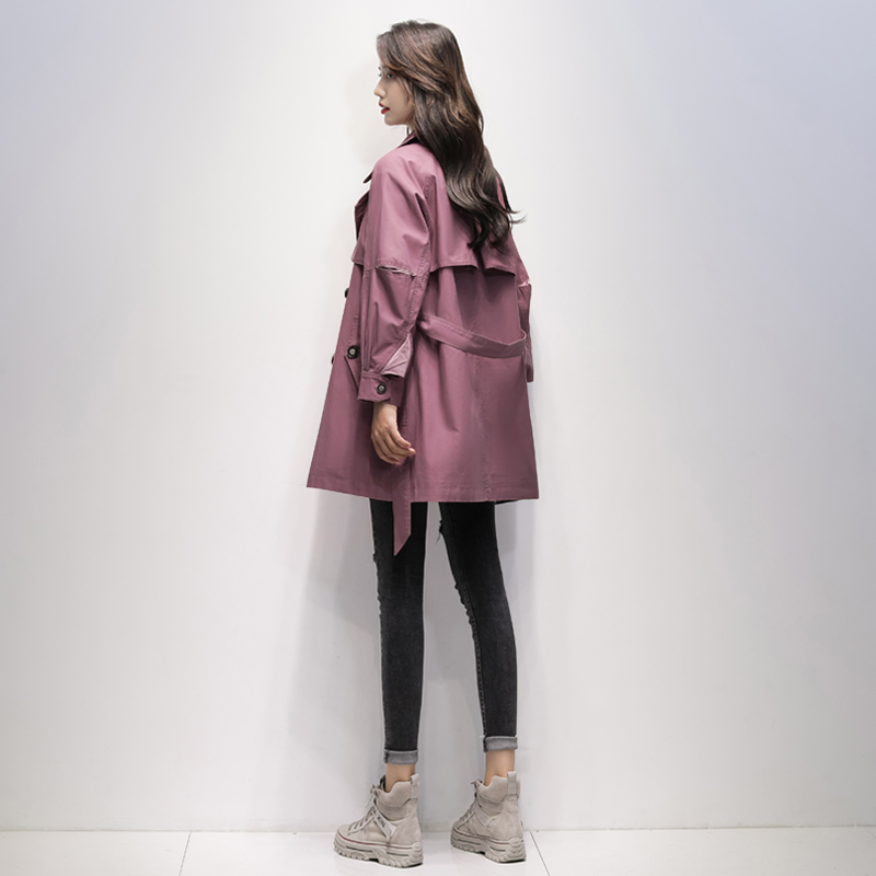 Windshield womens middle-length version of the 2021 spring dress new Korean version of the 100-pack temperament loose small coat casual jacket