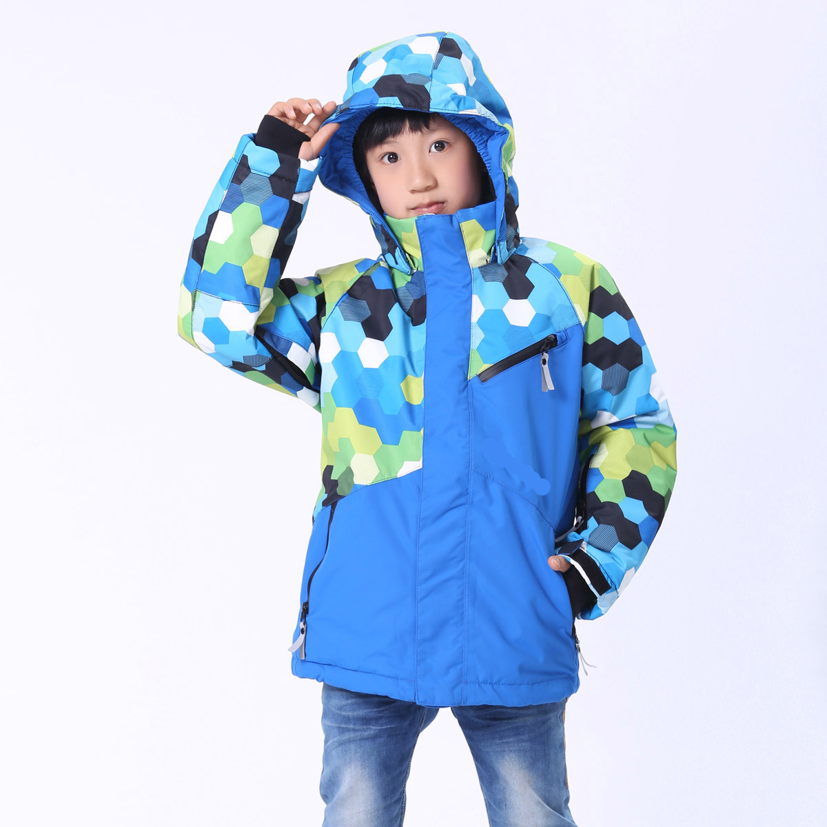 Professional parent-child boys and girls children snowboard clothing wind and rain Nordic mountaineering clothing winter clothes