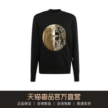 Versace jeans couture2020 spring / Summer Black Cotton gilded men's sweater