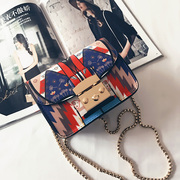 2017 new female bag tide Liu Wen with small female all-match Fashion Chain Bag Satchel Bag printing