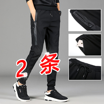 Pants mens Korean version of the trend of spring sports pants footwork overalls loose straight Tide brand Wild casual pants