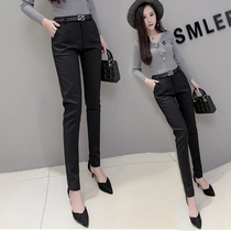 Occupation Western trousers nine spring and autumn new suit slim thin summer pants thin petite black pants