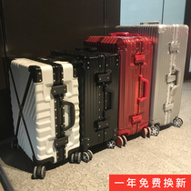 Ins aluminium frame pull rod suitcase 20 female tourist boarding suitcase 22 net red suitcase universal wheel 24 male 26 inch