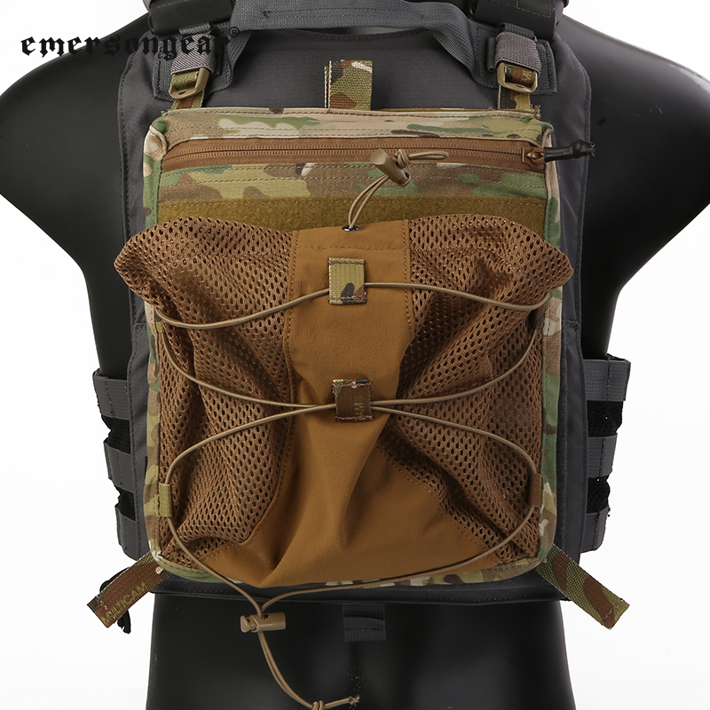 Emerson Emersongear LXB style hard hat water bag back plate For:420 buckled vest back plate bag