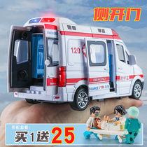 Alloy Ambulance Toy model L Simulation 120 Rescue car 119 Fire truck Boy girl car