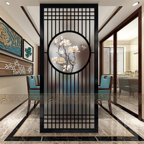Modern Art Glass Home screen living room partition wall Matte Translucent toilet porch background wall Magpie round