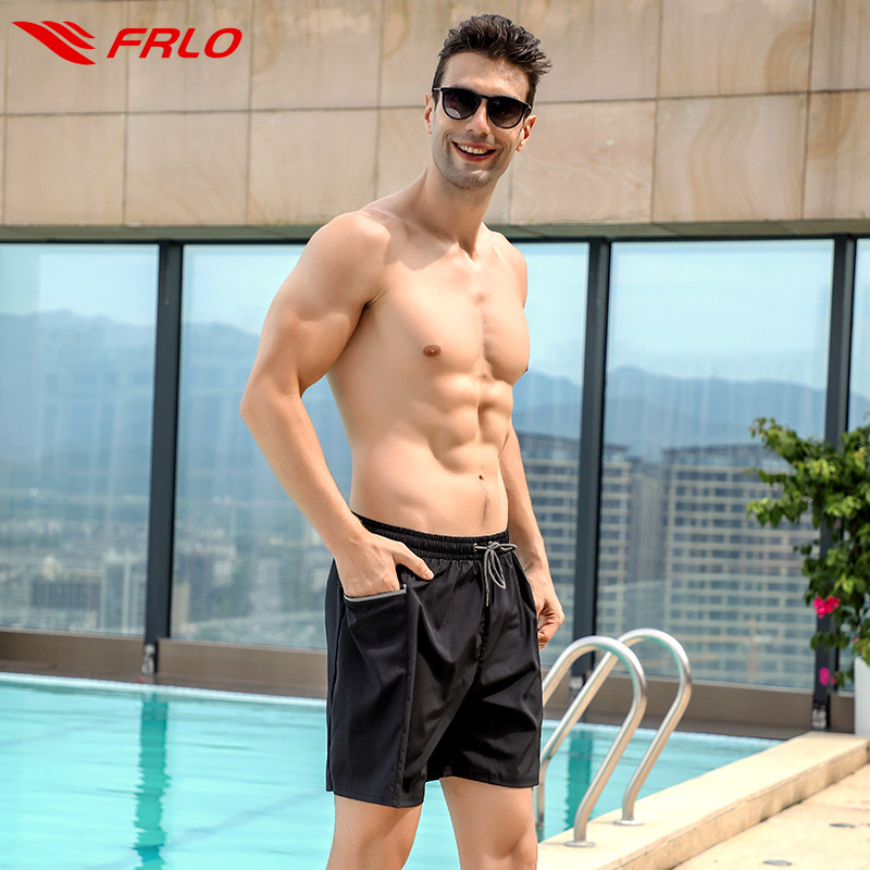 Swimming trunks men's embarrassment-proof hot spring pants professional quick-drying fashion loose elastic boxer lined swimsuit men's swimming equipment