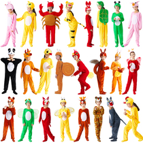 Childrens costume animal costume Big Bad Wolf little rabbit little mouse Tiger Monkey Fox performance clothes