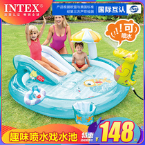 INTEX Childrens inflatable swimming pool Family large ocean ball pool Sand pool Household baby water spray paddling pool