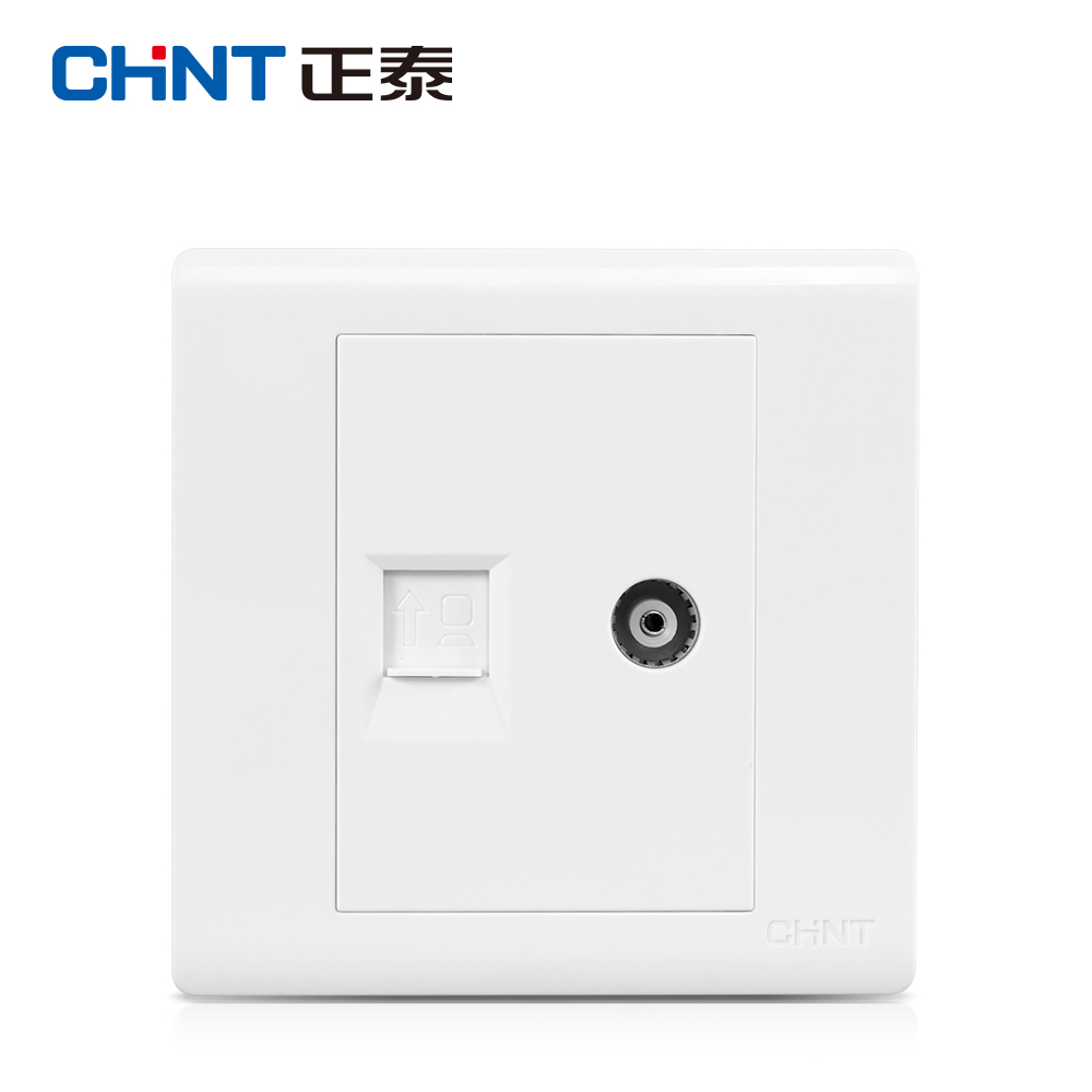 Zhengtai Electrical Switch Socket Panel 86 Wall Switch Weak Current Combination NEW7D Television Computer Socket