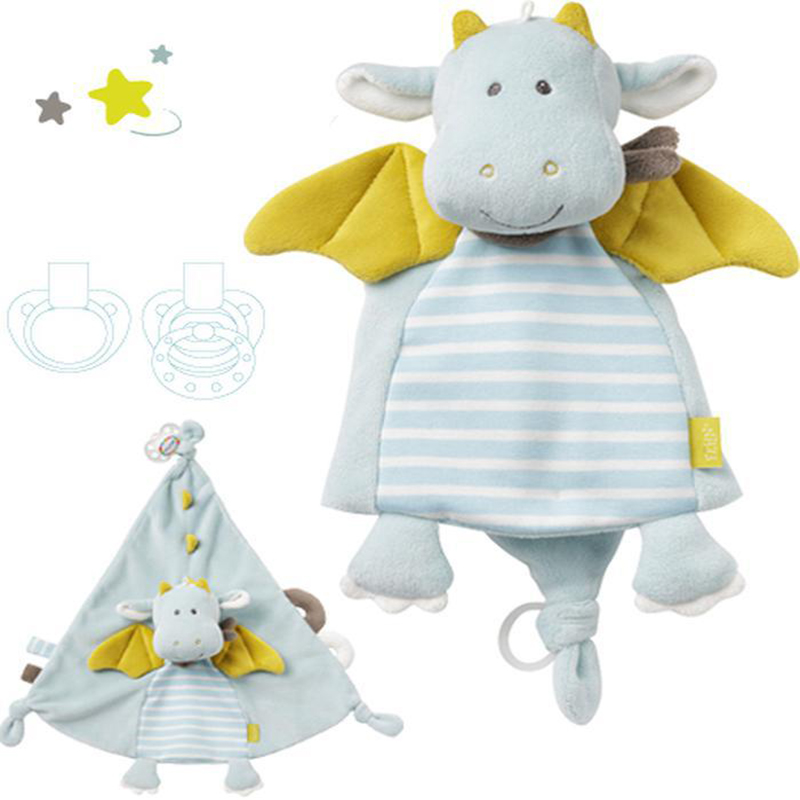 Baby Fehn Fein comfort towel doll mouth water towel baby can bite small castle flying dragon at the entrance