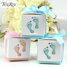 10pcs Baby Footprint Laser Cut Out Candy Box Baby S