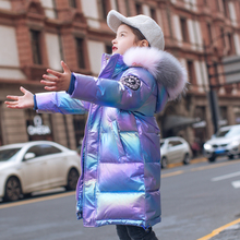 Bala off season children's down jacket girl's middle long bala2020 new girl's foreign style baby thick coat