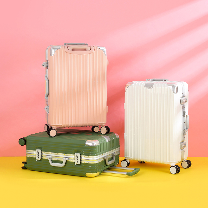 High-value luggage female candy color suitcase male universal wheel trolley 20-inch boarding box password luggage