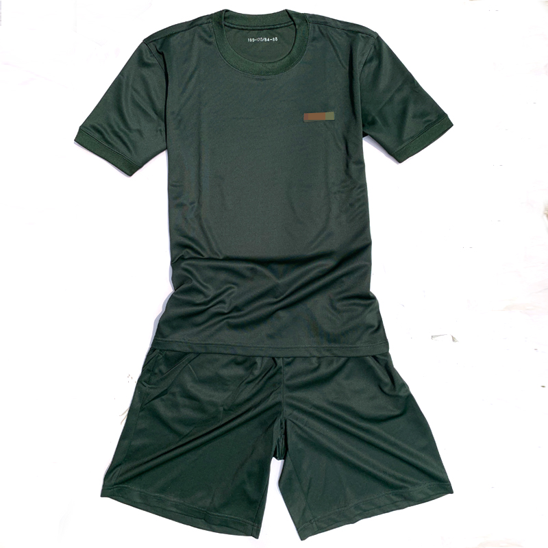 Fitness training suit Summer training shorts fast dry breathable round leader t-shirt man