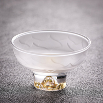 Dust heart tang glass personal single cup Kung Fu tea with high temperature thickened small Jianzhan household living room tea special cup